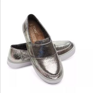 b0ce8054d4eb7 Toms Altair leather metallic slip on women shoes